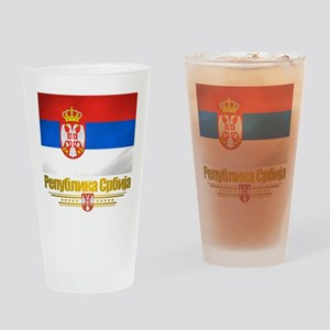 """Serbian Flag"" Drinking Glass"