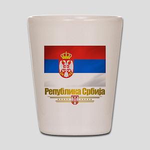 """Serbian Flag"" Shot Glass"