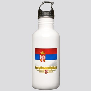 """Serbian Flag"" Stainless Water Bottle 1.0L"