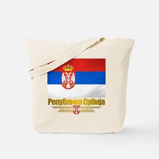 """""""Serbian Flag"""" Tote Bag"""