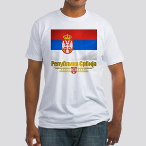 """Serbian Flag"" Fitted T-Shirt"