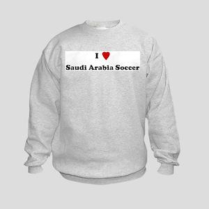 I Love Saudi Arabia Soccer Kids Sweatshirt