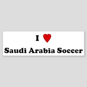 I Love Saudi Arabia Soccer Bumper Sticker