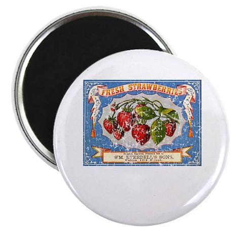 Fresh Strawberries Label Magnet