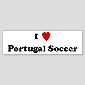 I Love Portugal Soccer Bumper Sticker