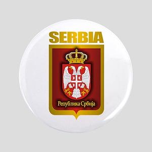 """Serbian Gold"" 3.5"" Button"