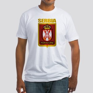 """Serbian Gold"" Fitted T-Shirt"