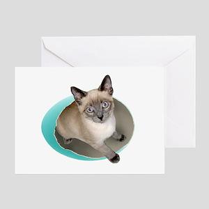 Kitten Blue Egg Greeting Card