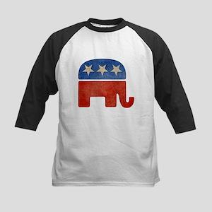 Republican Logo -Faded Kids Baseball Jersey