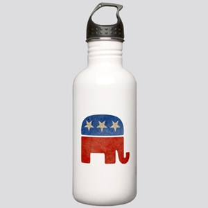 Republican Logo -Faded Stainless Water Bottle 1.0L