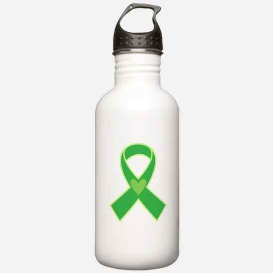 Green Ribbon Awareness Water Bottle
