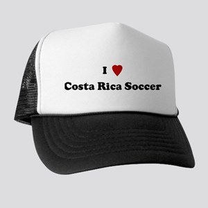 I Love Costa Rica Soccer Trucker Hat