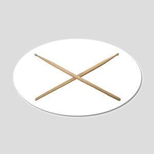 DRUMSTICKS III™ 20x12 Oval Wall Decal