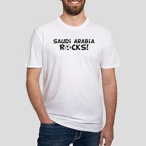 Saudi Arabia Rocks! Fitted T-Shirt