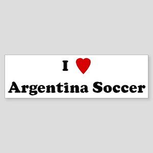 I Love Argentina Soccer Bumper Sticker