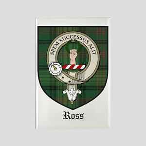 Ross Clan Crest Tartan Rectangle Magnet