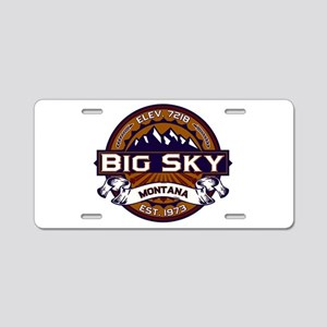 Big Sky Vibrant Aluminum License Plate