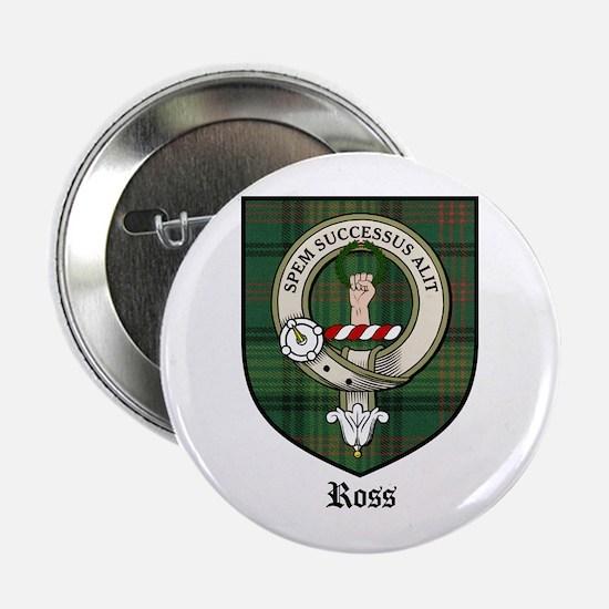 """Ross Clan Crest Tartan 2.25"""" Button (10 pack)"""