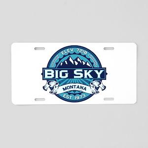 Big Sky Ice Aluminum License Plate