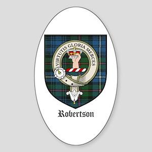 Robertson Clan Crest Tartan Oval Sticker