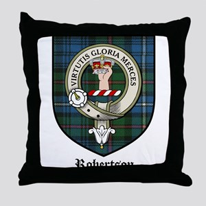Robertson Clan Crest Tartan Throw Pillow