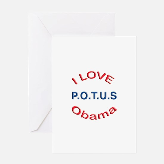 Love POTUS Obama Greeting Card