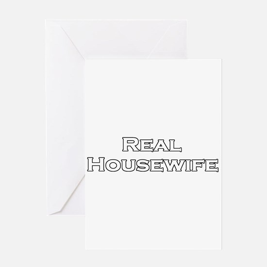 Real Housewife Greeting Card