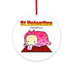 Valentine PeRoPuuu Ornament (Round)