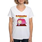 Valentine PeRoPuuu Women's V-Neck T-Shirt