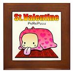 Valentine PeRoPuuu Framed Tile