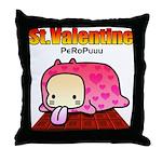 Valentine PeRoPuuu Throw Pillow