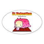 Valentine PeRoPuuu Sticker (Oval 10 pk)