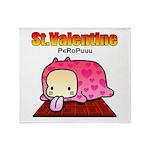 Valentine PeRoPuuu Throw Blanket