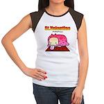 Valentine PeRoPuuu Women's Cap Sleeve T-Shirt