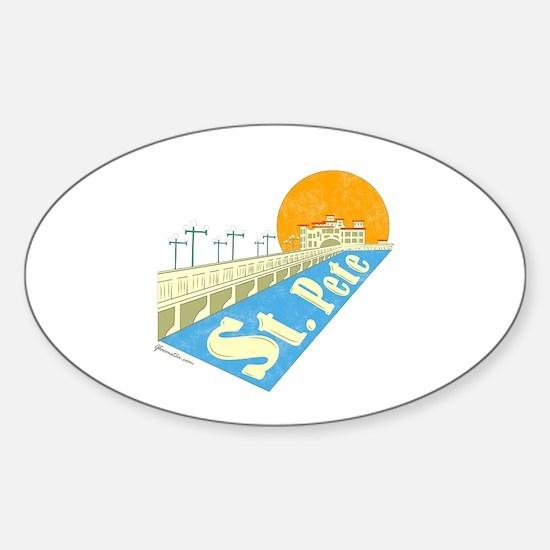 St. Pete Local Sticker (Oval)