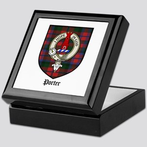 Porter Clan Crest Tartan Keepsake Box