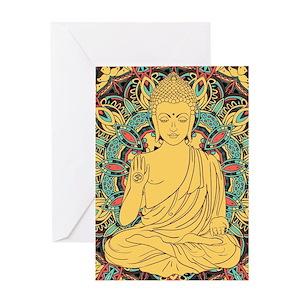 Yoga art greeting cards cafepress m4hsunfo