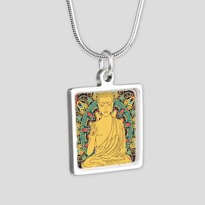 Buddha Silver Square Necklace