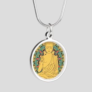 Buddha Silver Round Necklace