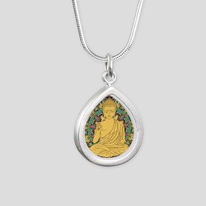 Buddha Silver Teardrop Necklace