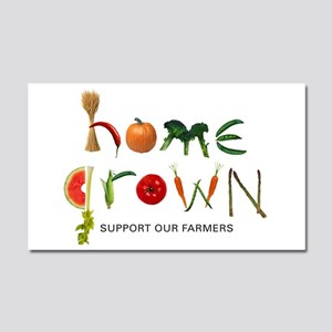 Home Grown. Support our Farme Car Magnet 20 x 12