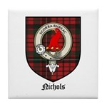 Nichols Clan Crest Tartan Tile Coaster