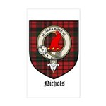 Nichols Clan Crest Tartan Rectangle Sticker