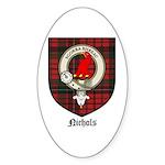 Nichols Clan Crest Tartan Oval Sticker