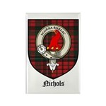 Nichols Clan Crest Tartan Rectangle Magnet (10 pac