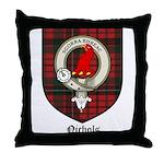 Nichols Clan Crest Tartan Throw Pillow
