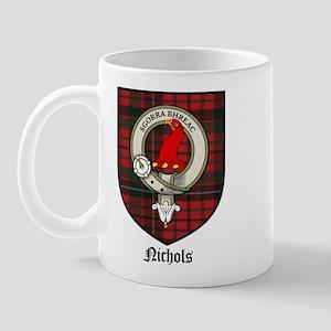 Nichols Clan Crest Tartan Mug