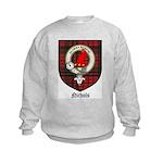 Nichols Clan Crest Tartan Kids Sweatshirt