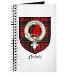 Nichols Clan Crest Tartan Journal