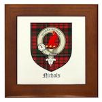 Nichols Clan Crest Tartan Framed Tile